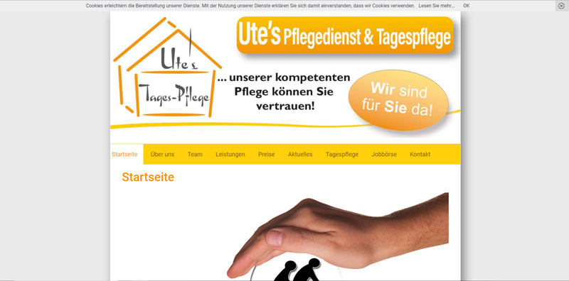 Ute´s Pflegedienst Referenz Merlin Marketing Birgit Jarosch